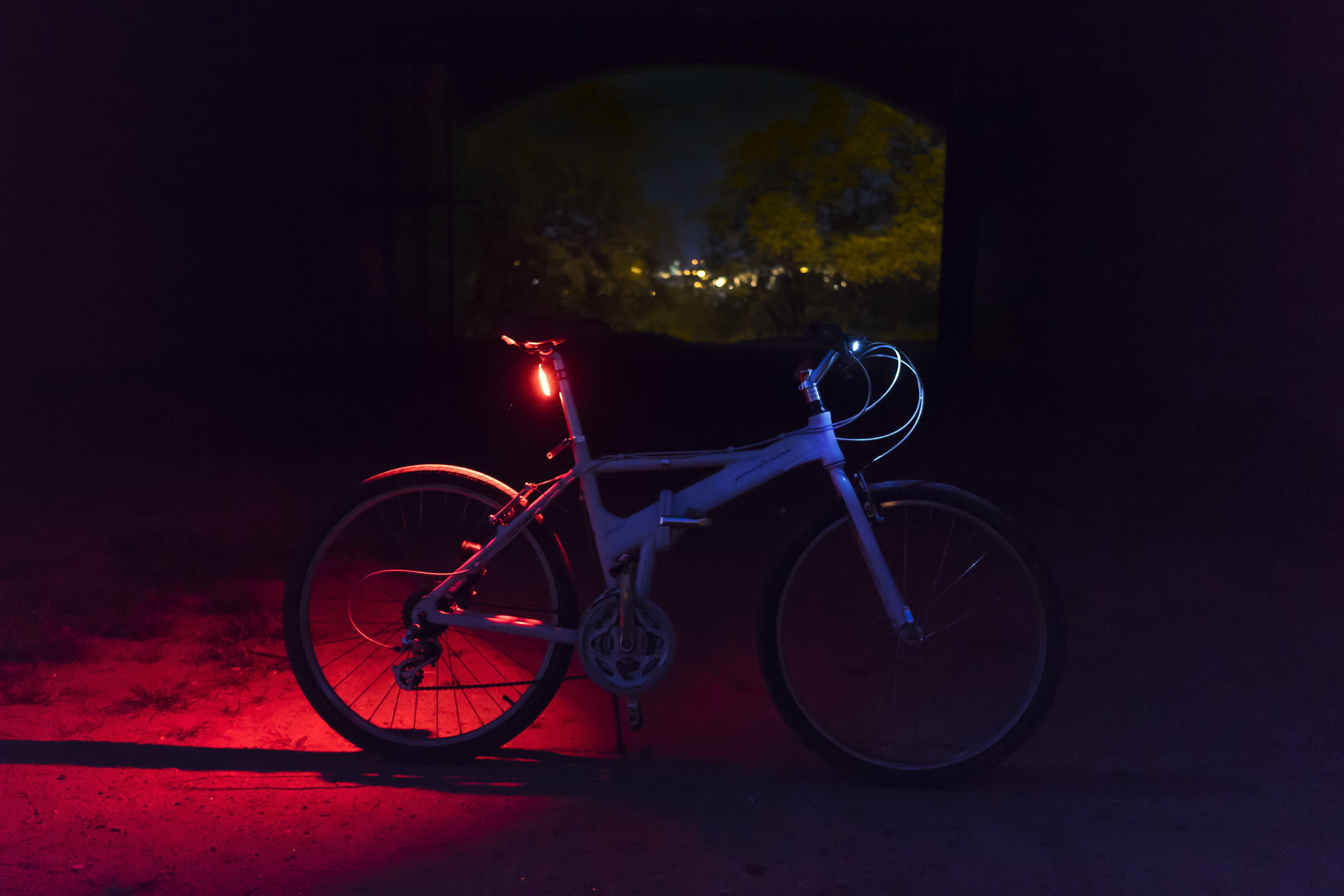Blue and Black Road Bike on Street