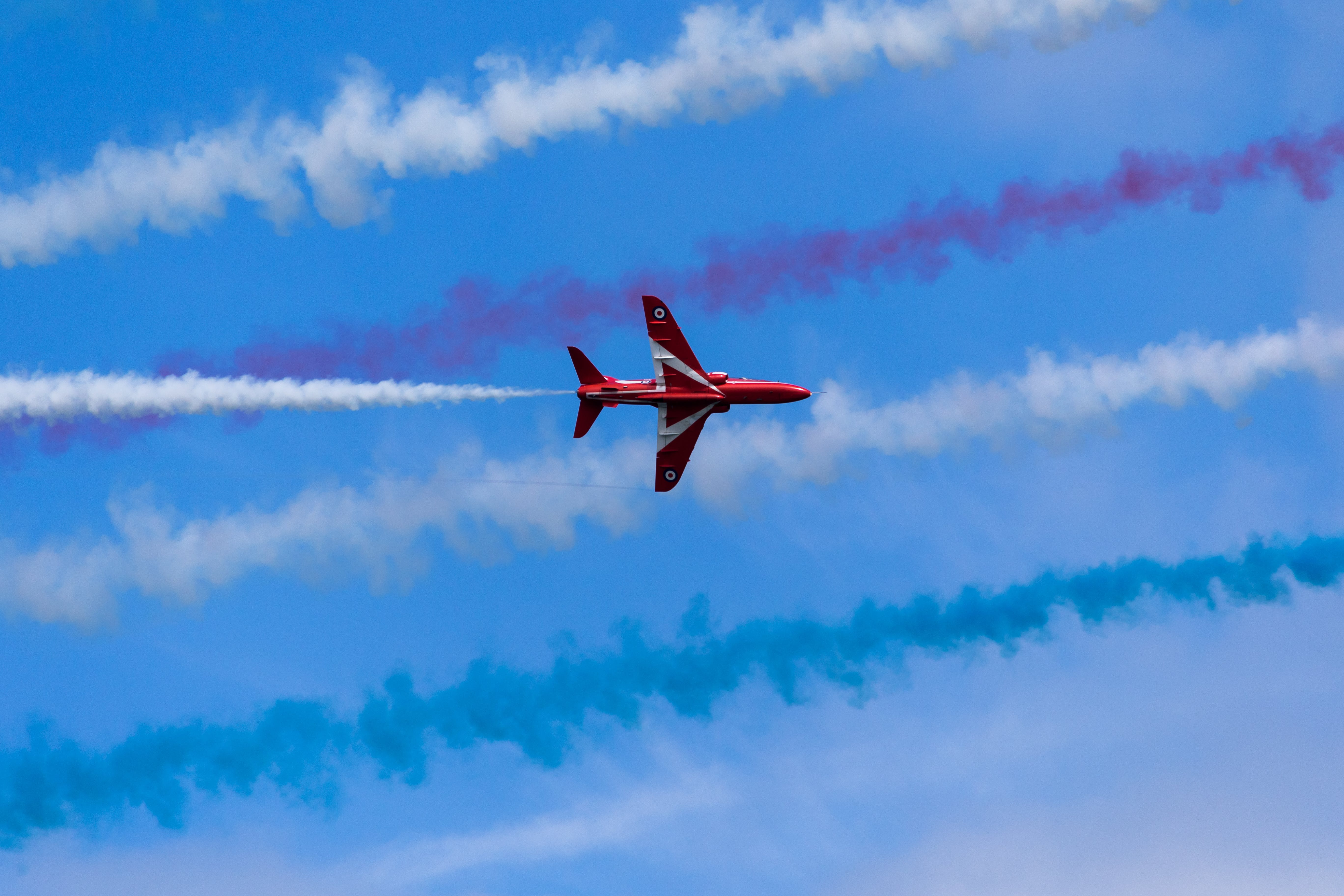 Free stock photo of airplane, air force, red arrows
