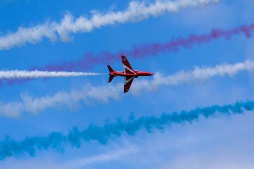 Free stock photo of air force, airplane, red arrows
