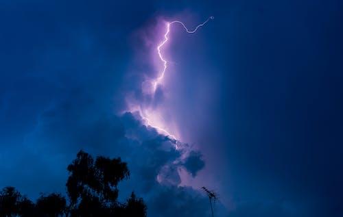Free stock photo of blue, dark, flash