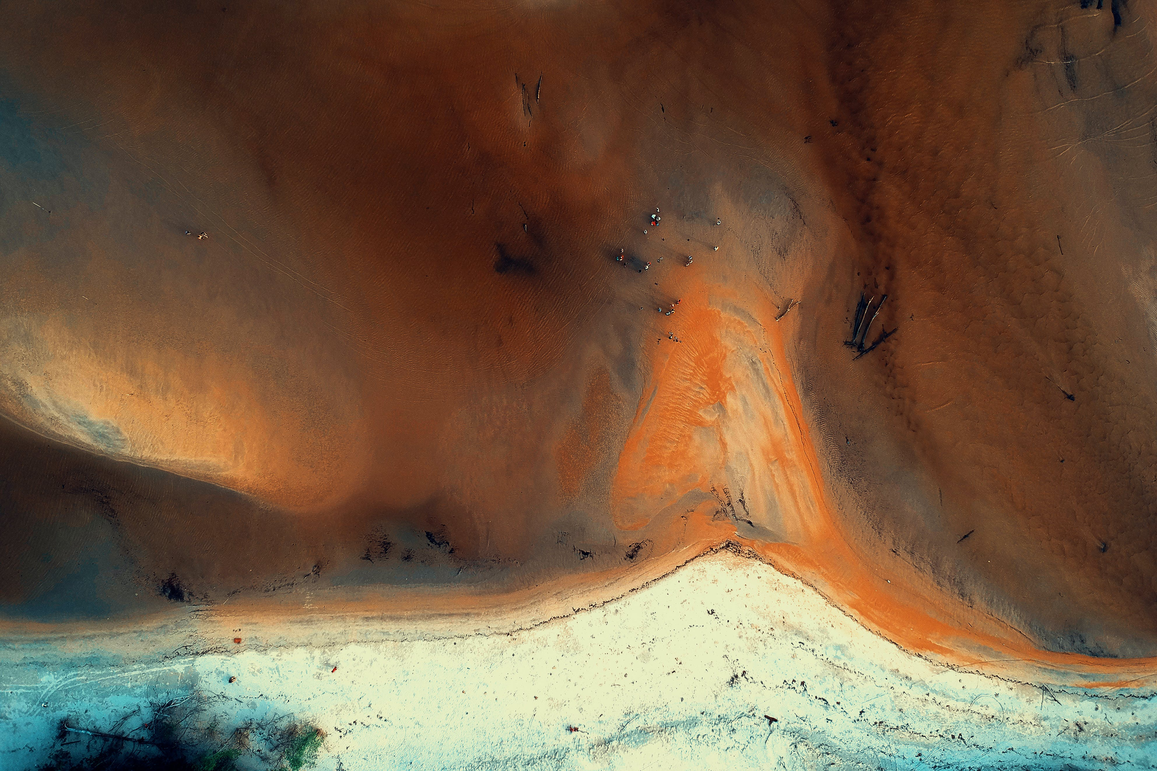 Aerial Photography of Land