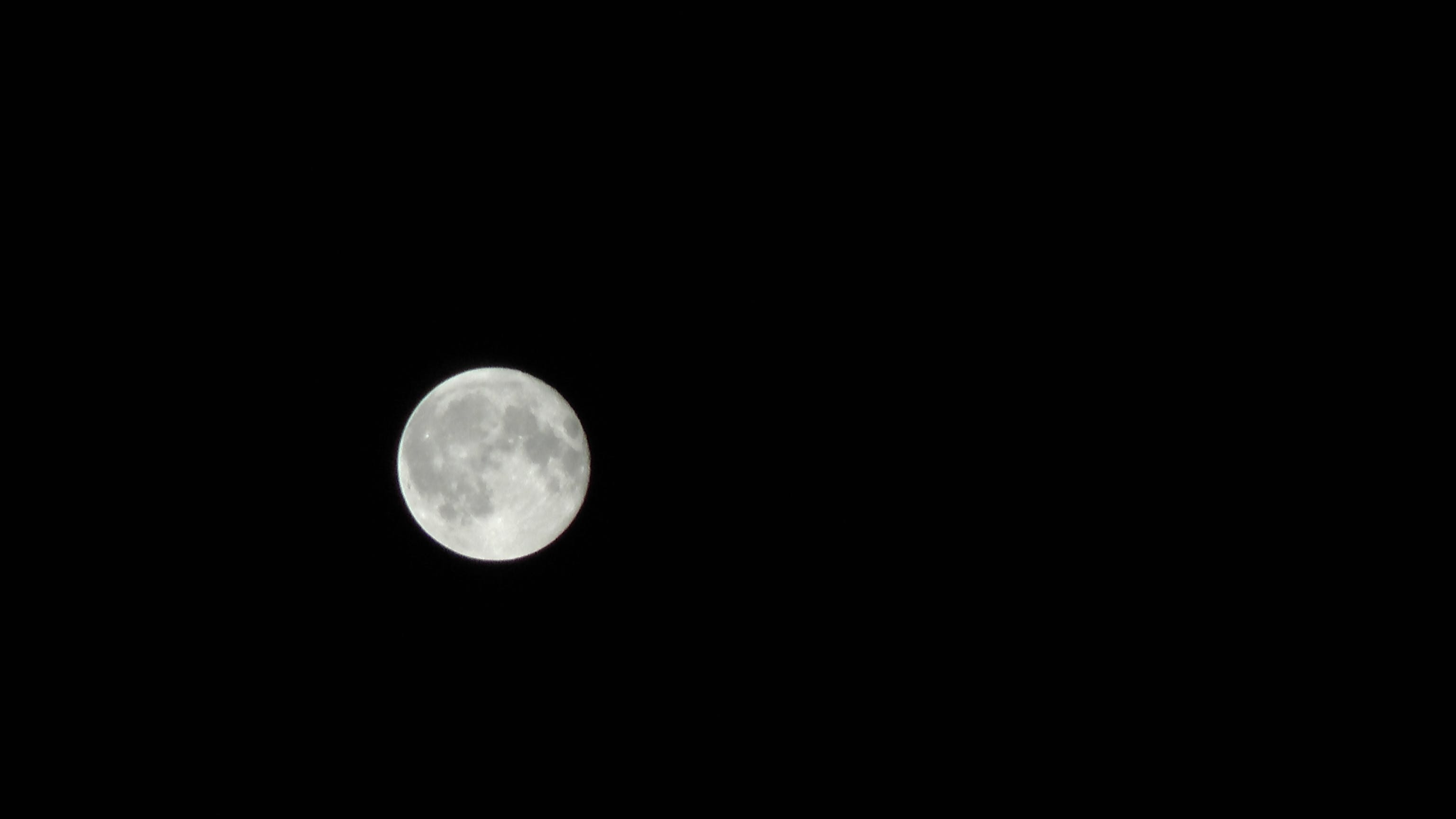Free stock photo of far away, moon, moonlight, night