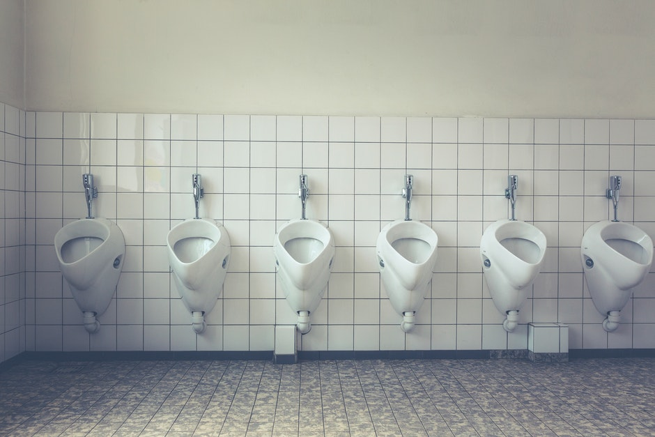 White Ceramic Male Toilet
