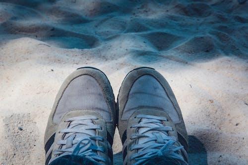 Free stock photo of beach, feet, footwear, sand