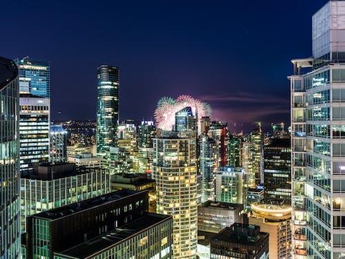 Imagine de stoc gratuită din arhitectură, artificii, centrul orașului, clădiri