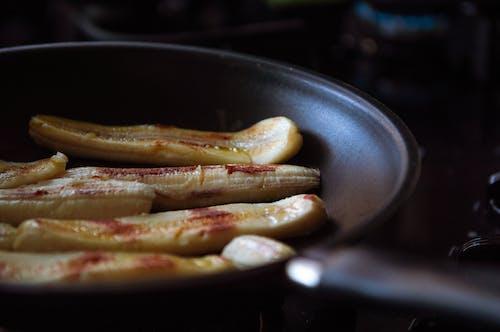 Gıda, kızartma tavası, lezzetli, muz içeren Ücretsiz stok fotoğraf