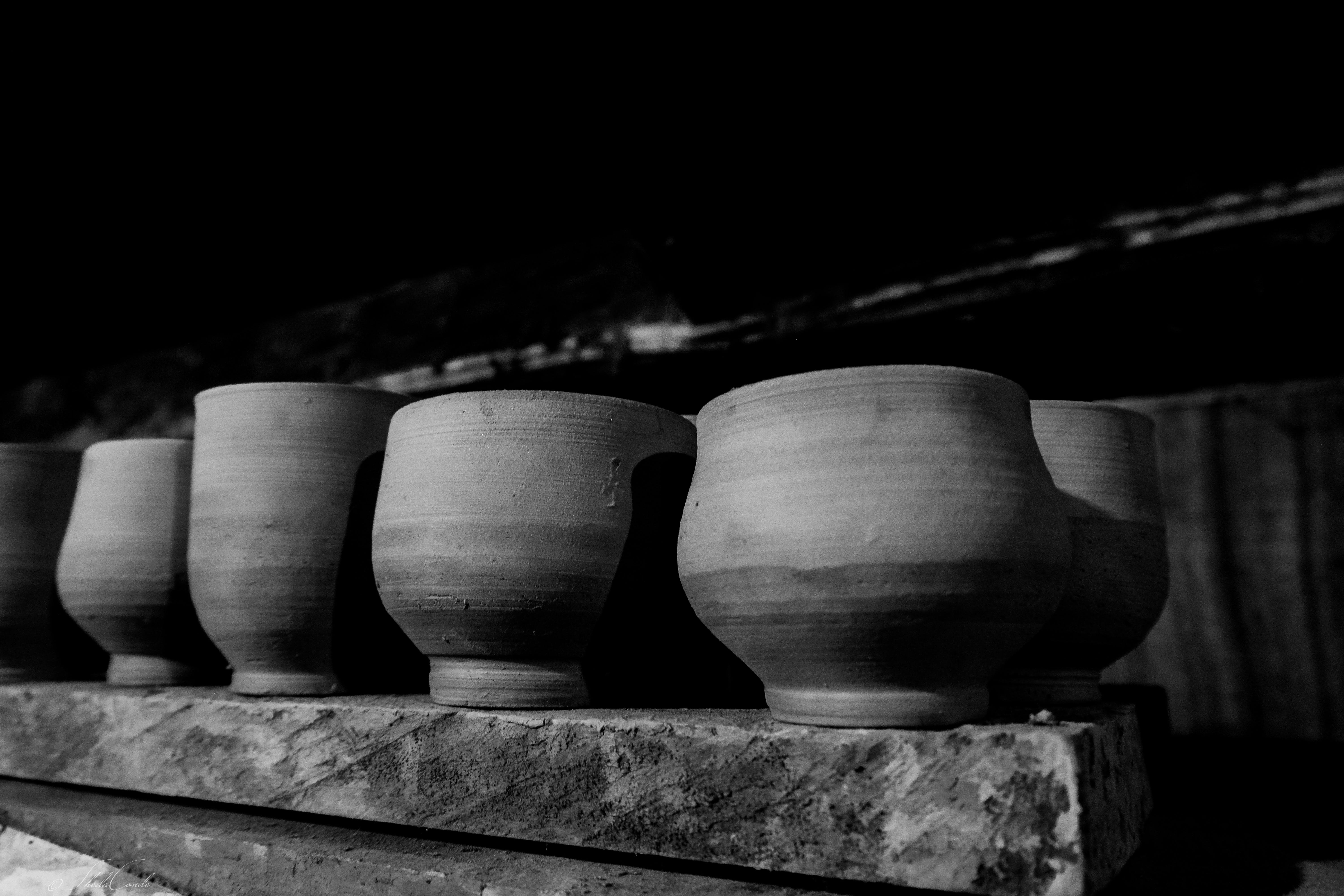 Free stock photo of black and white, clay art, monochrome, pottery