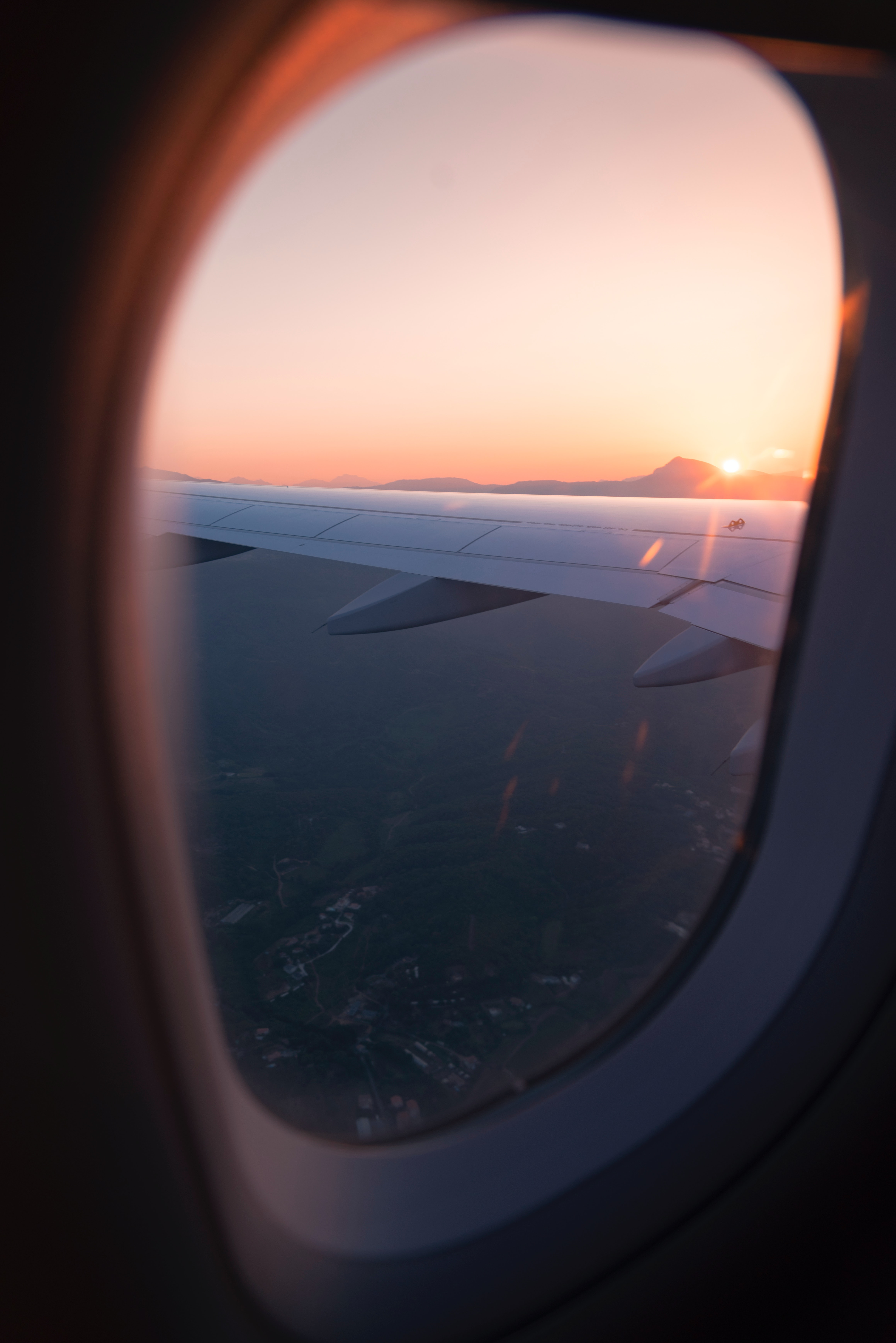 Airliner Mirror View Free Stock Photo
