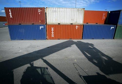 Foto d'estoc gratuïta de camió, contenidors, contenidors marítims, port