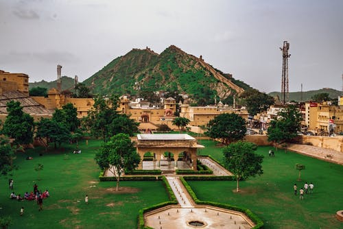 Free stock photo of amer, fort, mountains