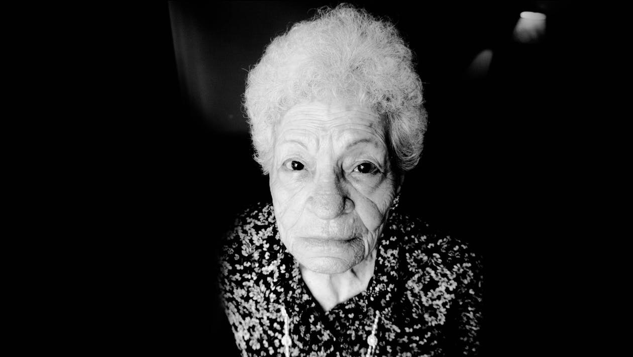 Free stock photo of black and white, grandma, old lady