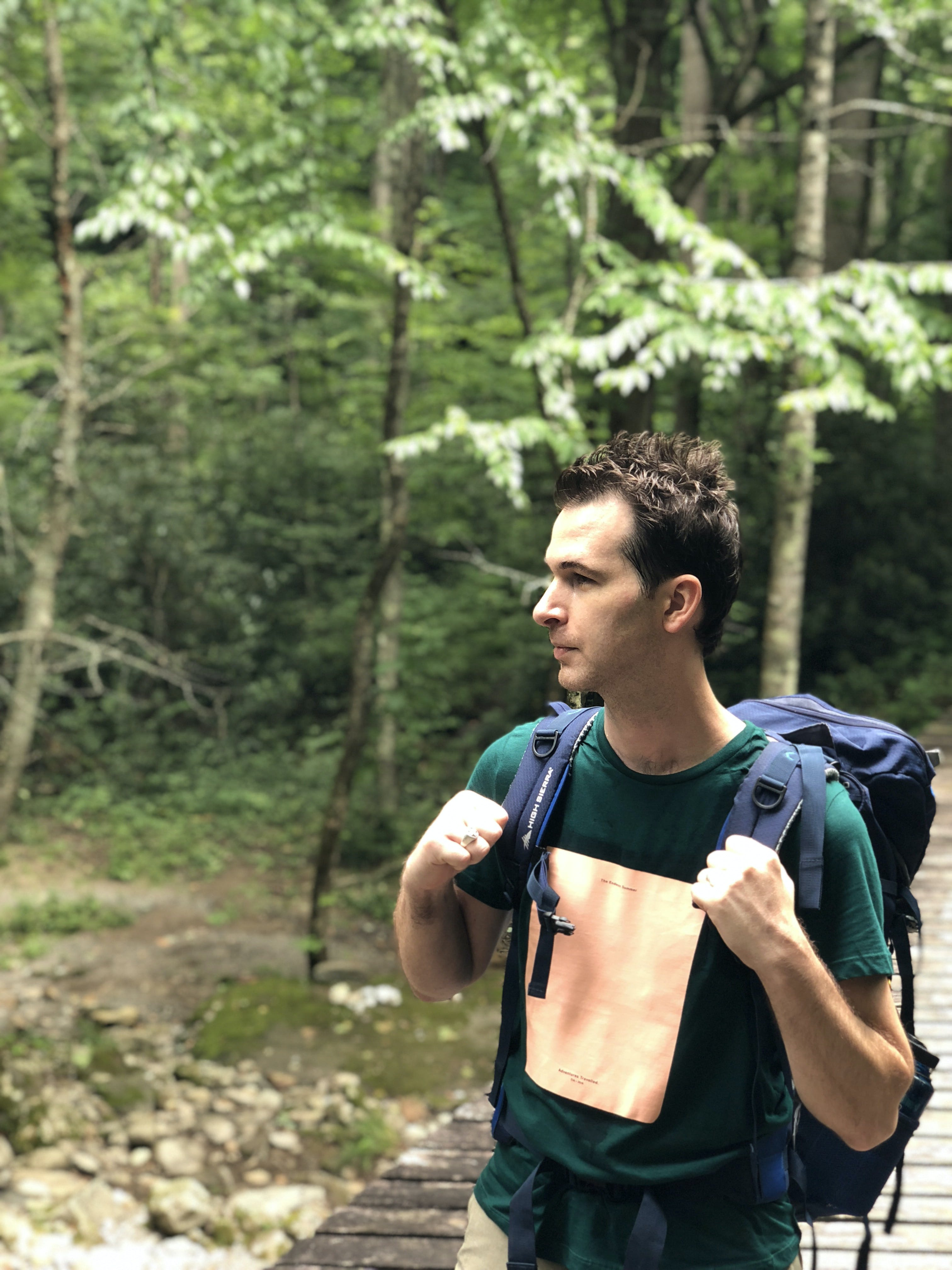 Free stock photo of backpacking hiking forest