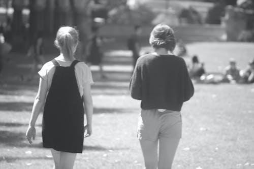 Free stock photo of back, bestfriends, black and white