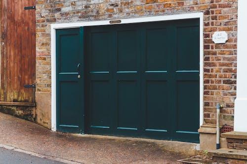 ガレージ, ティール, ドアの無料の写真素材