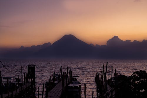 Free stock photo of atitlan, docks, guatemala, hazy