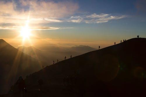 Free stock photo of beautiful, flare, hike, mountains