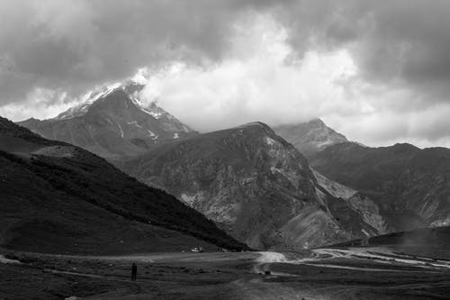 Free stock photo of black and white, cloudy, desolate, distant