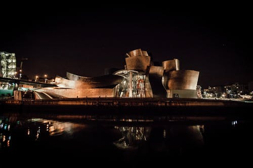 Free stock photo of bilbao, guggenheim, museum, night