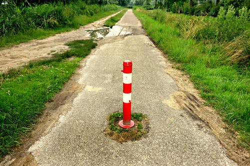 Free stock photo of adjustable road block, bike path, no entry post, path