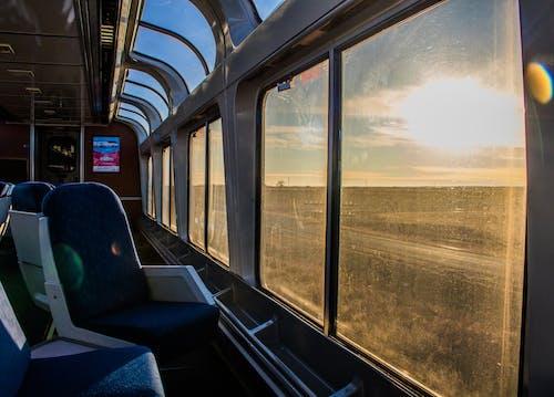 Foto d'estoc gratuïta de amtrak, entrenar, sol de vespre, tren
