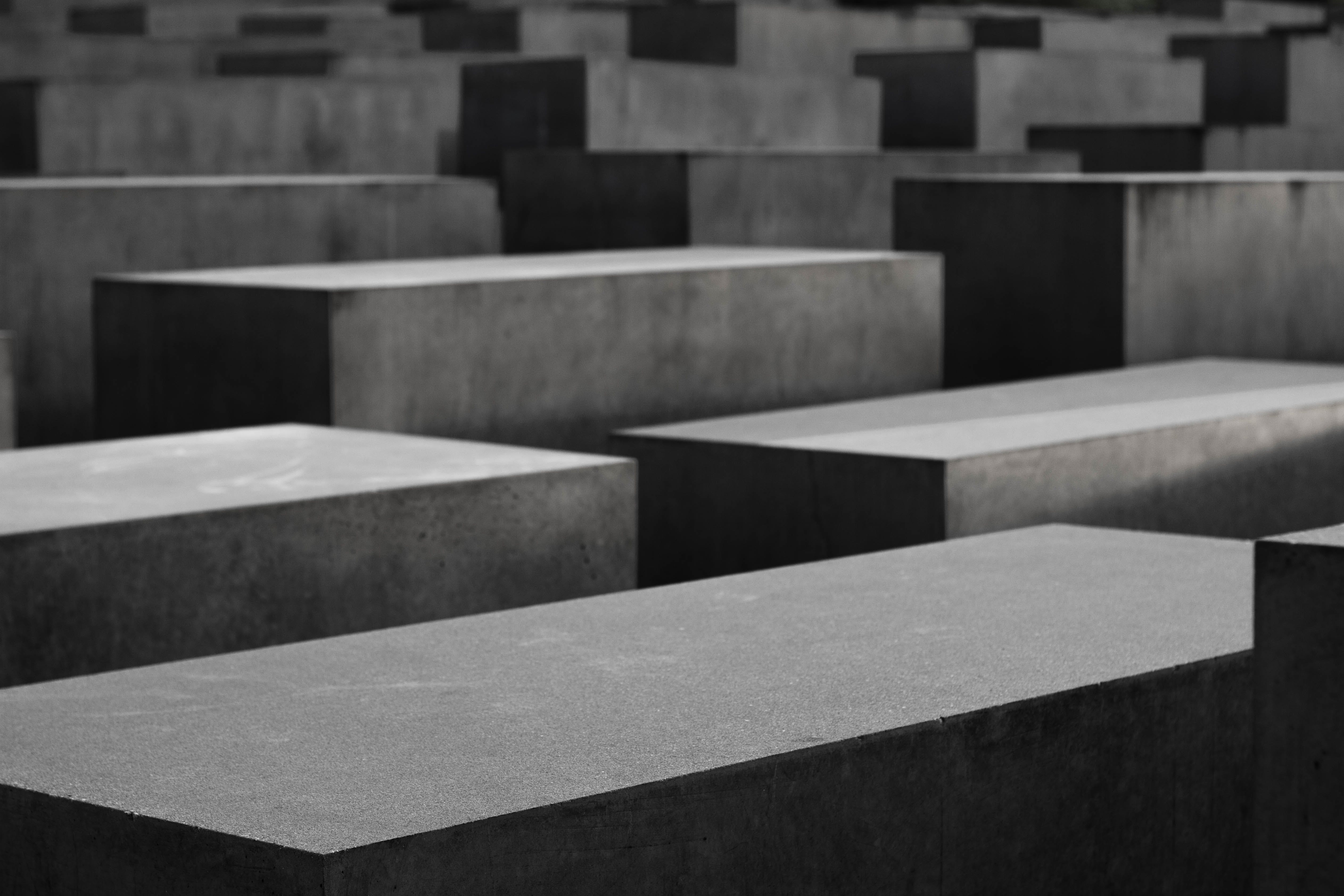 Free stock photo of berlin, black-and-white, concrete, holocaust memorial