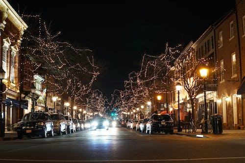 Kostnadsfri bild av alexandria, gammal stad, gatubelysning, julstad