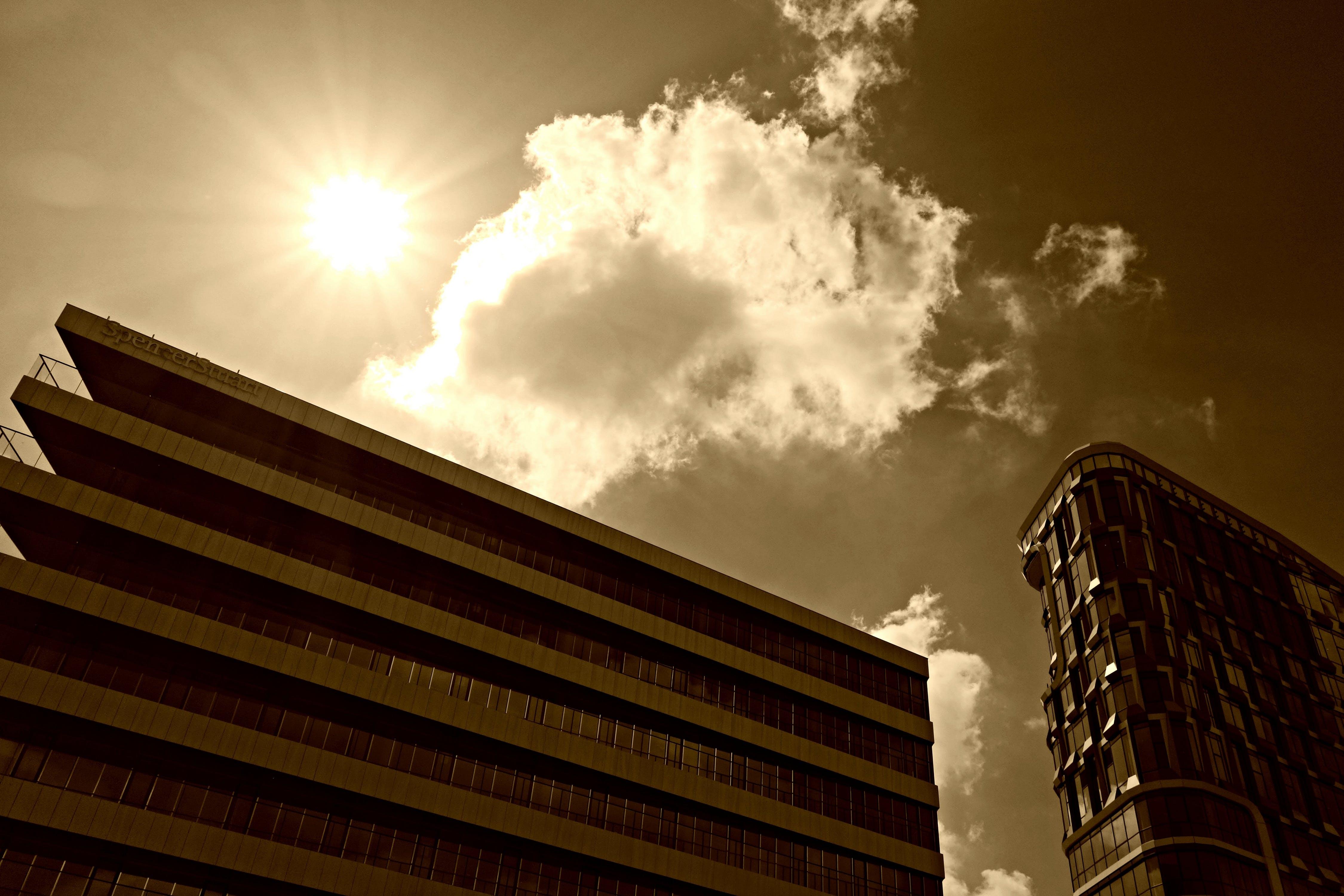 Free stock photo of sky, sun, silhouette, architecture