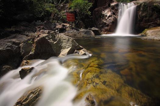 Waterfalls Scenery during Daytime