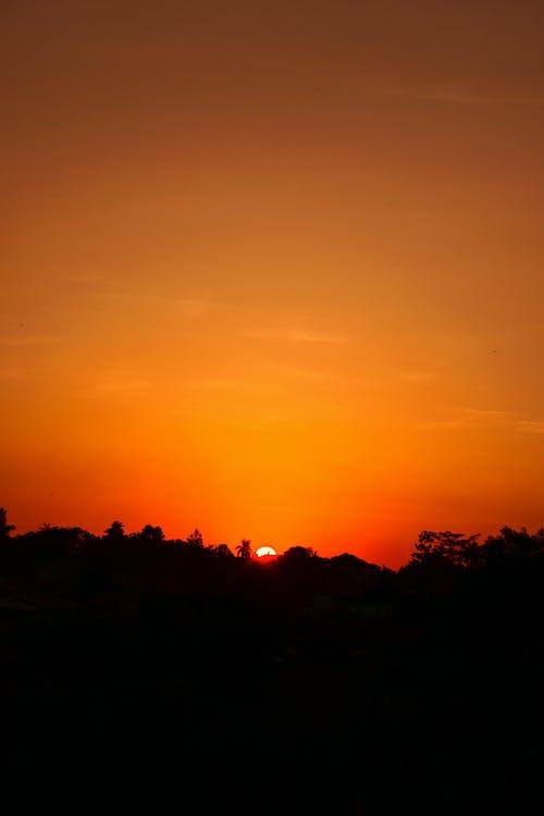 afrika, solnedgång, solnedgångar i afrika