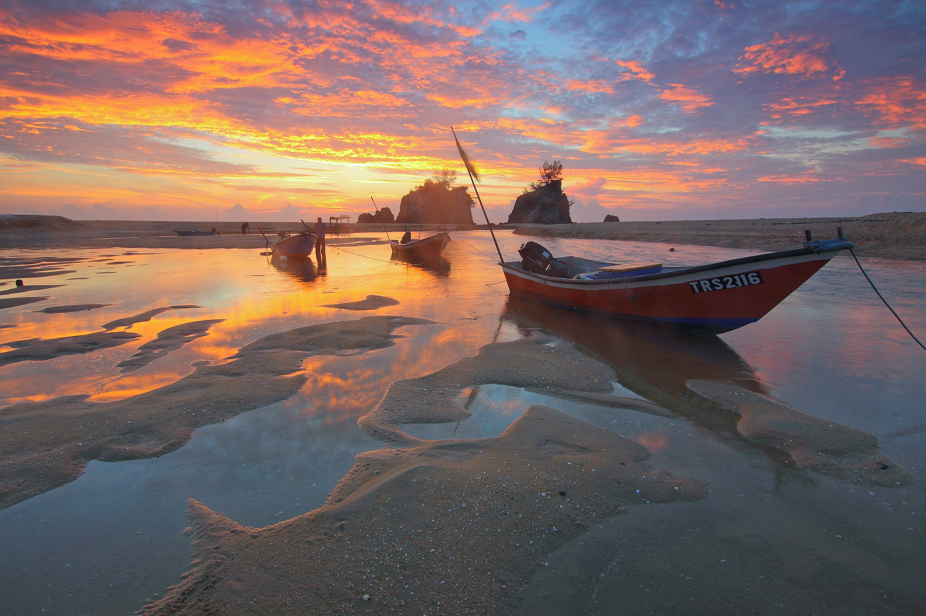 Low Tide during Sunset