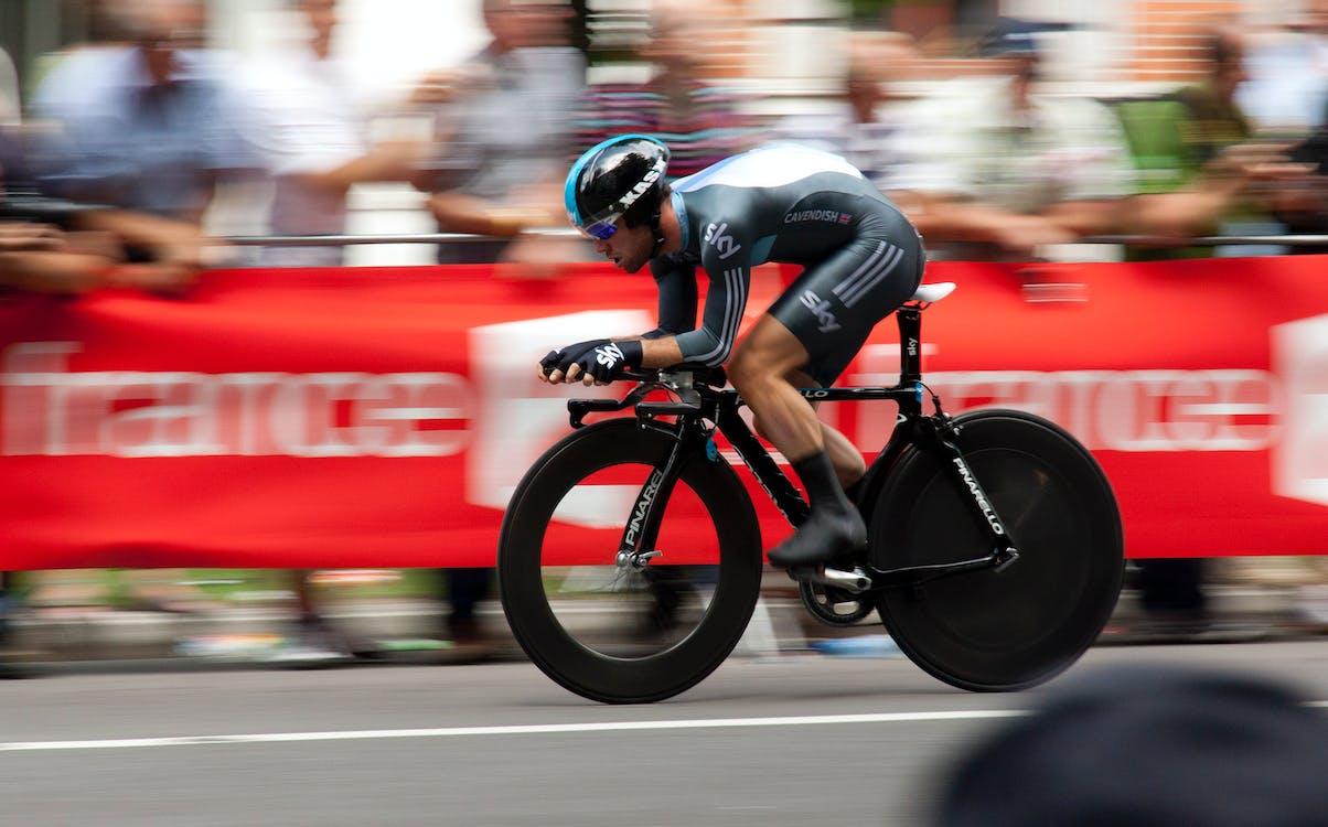 Immagine gratuita di allenamento, andare in bicicletta, atleta