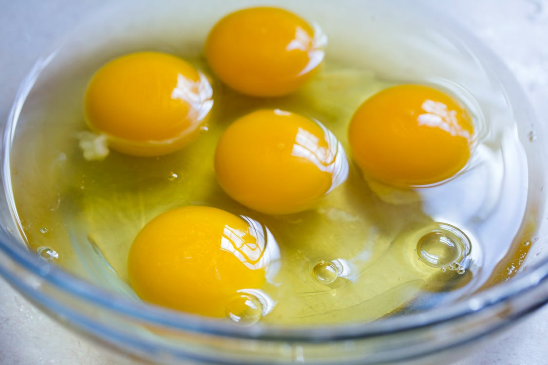 baking, eggs, raw eggs