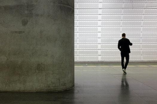 Free stock photo of man, waiting, underground, concrete