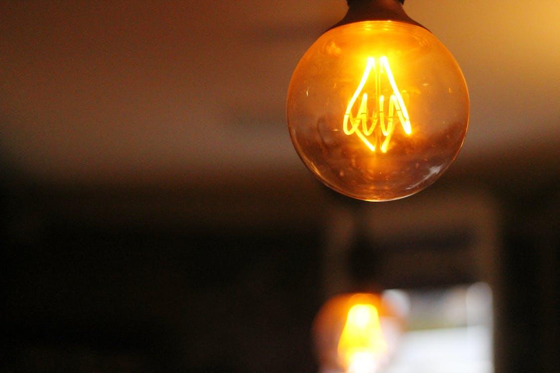 круглый, лампа, лампочка