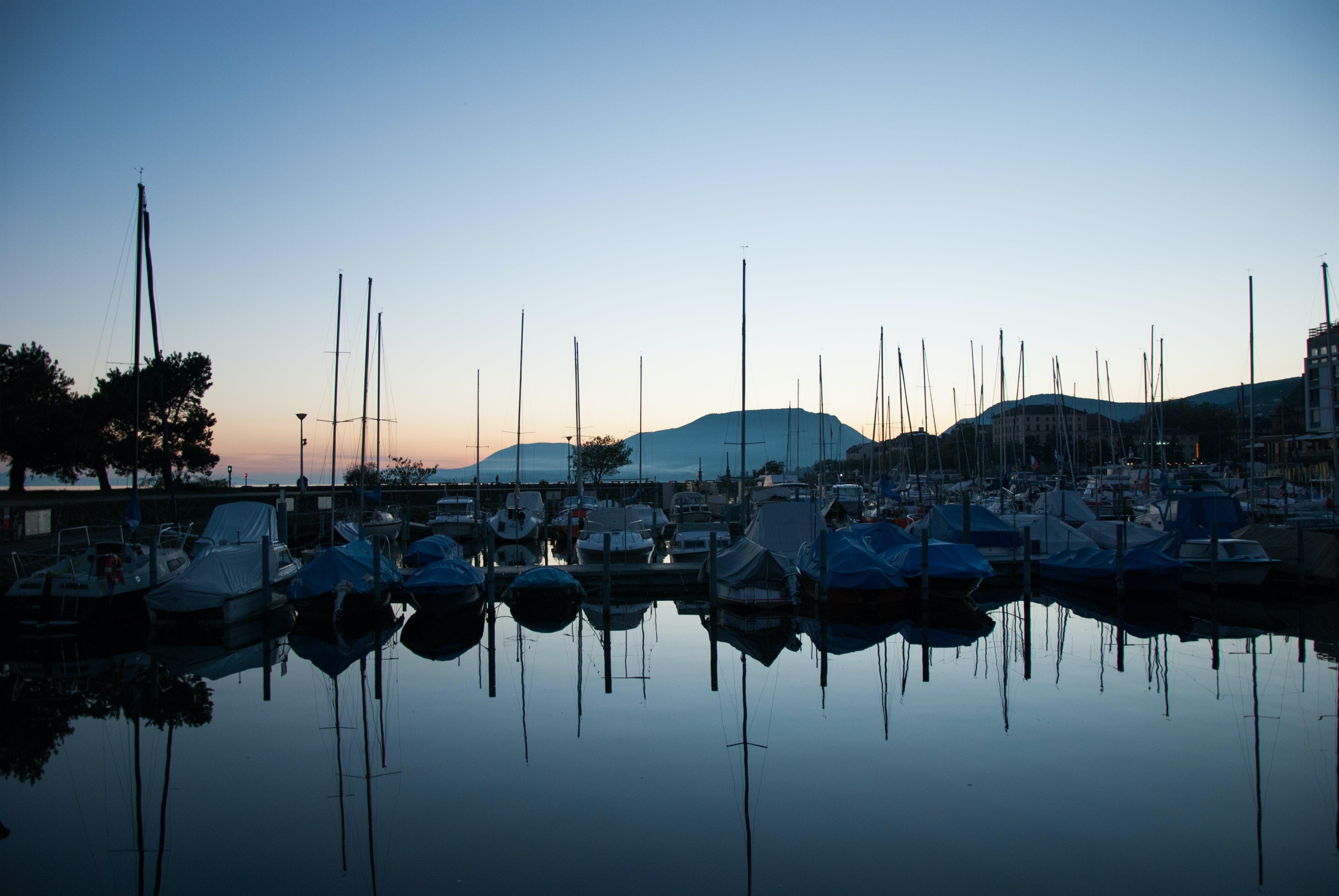 Free stock photo of boats, lake, port, sunshine