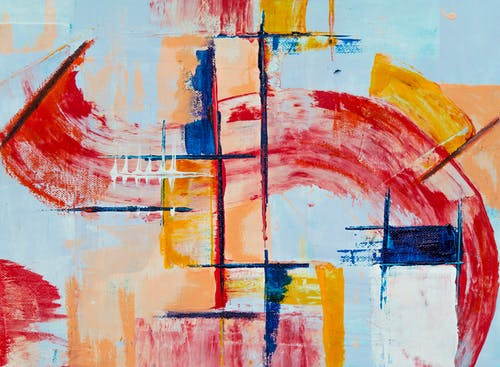Red, Yellow, and Blue Abstract Painting