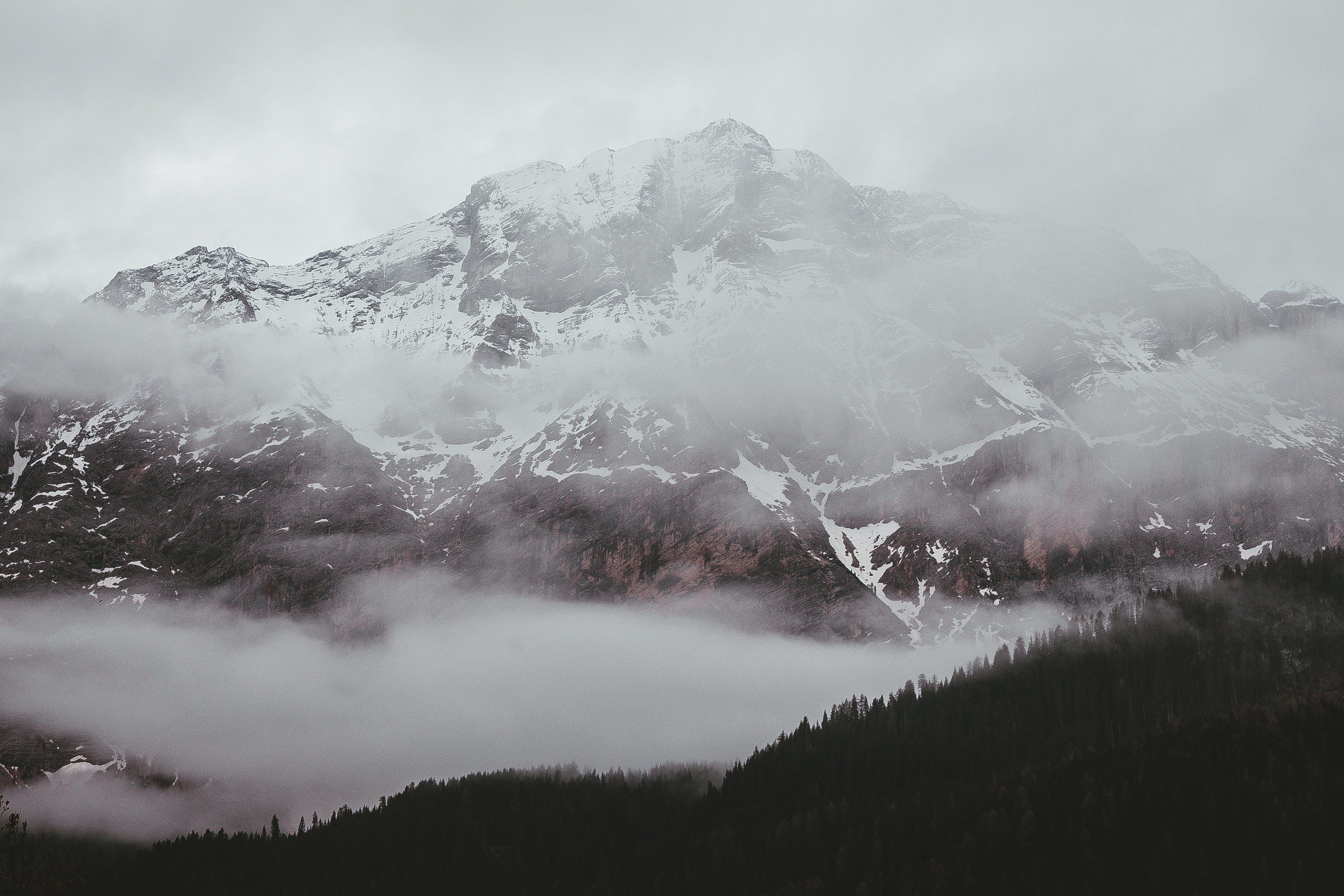 Photo Of Foggy Mountain