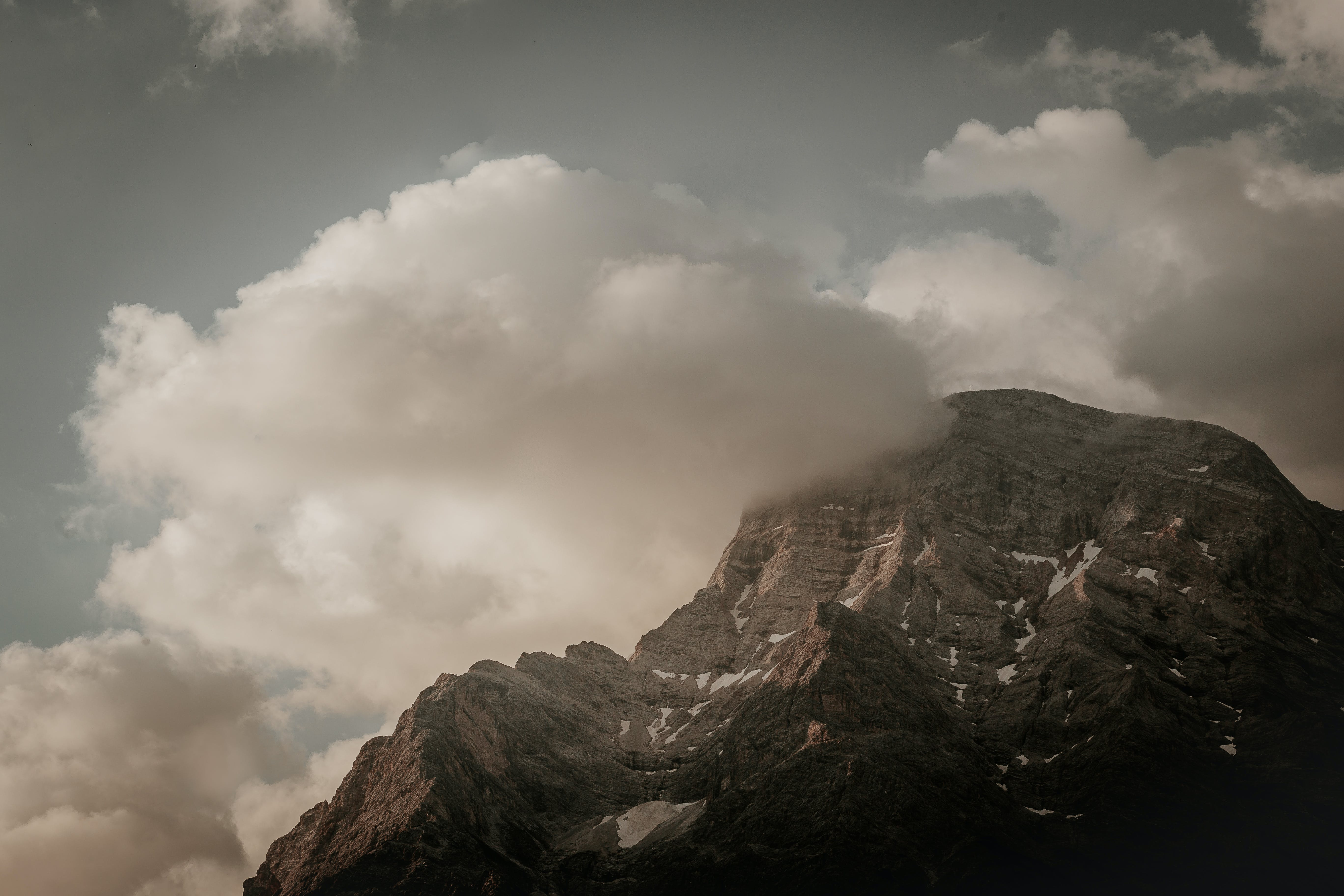 Mountain During Cloudy Day