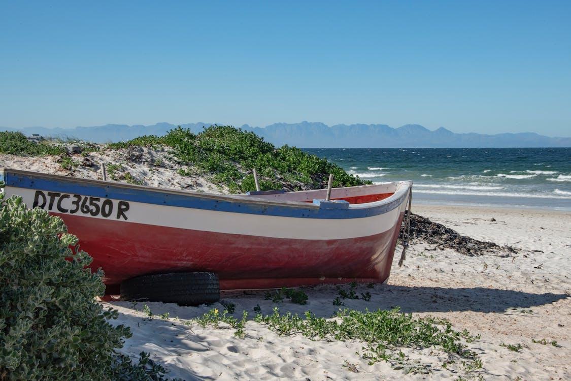 beach, boat, ocean