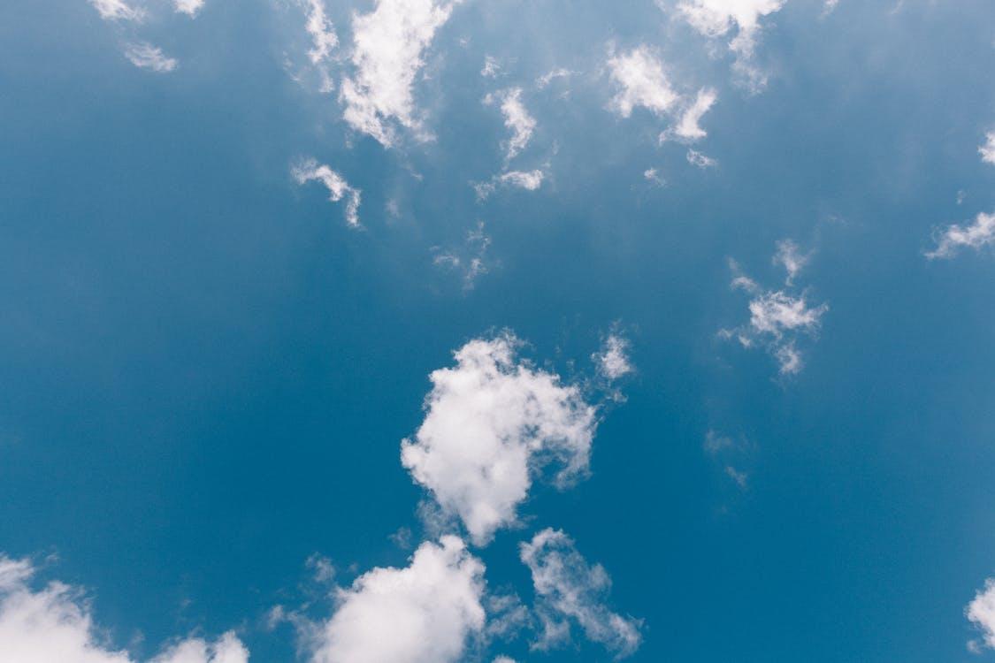 awan, biru, cerah