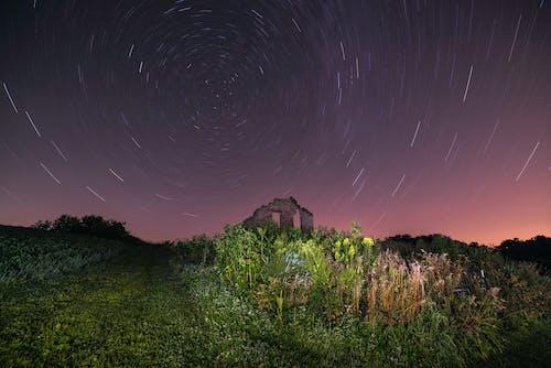 Gratis lagerfoto af aften, astrofotografering, farve, forladt