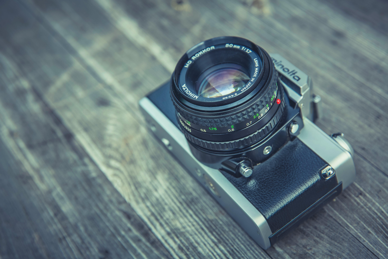 Grey and Black Compact Camera