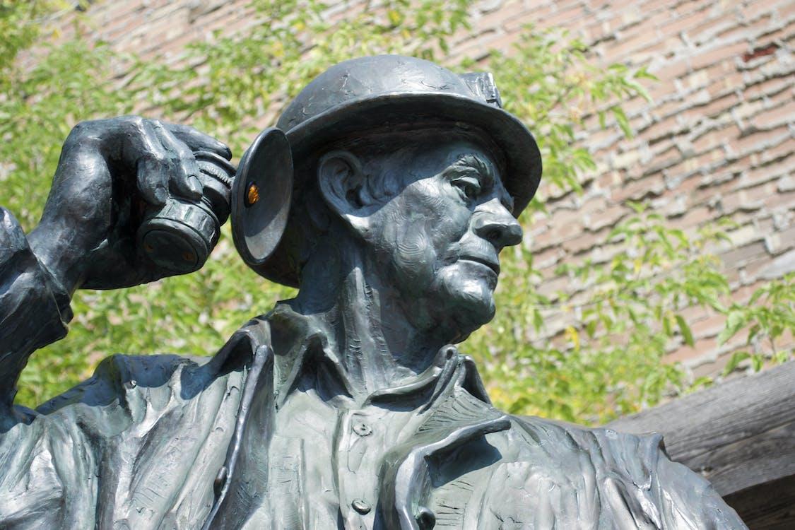 estátua, história americana, mineiro