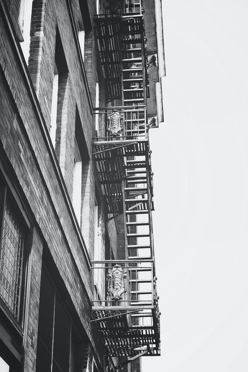 Free stock photo of black and white, buildings, industrial building