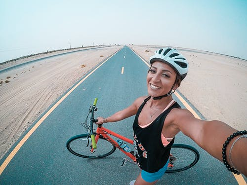 Fotos de stock gratuitas de autofoto, bicicleta de montaña, ciclista, deporte