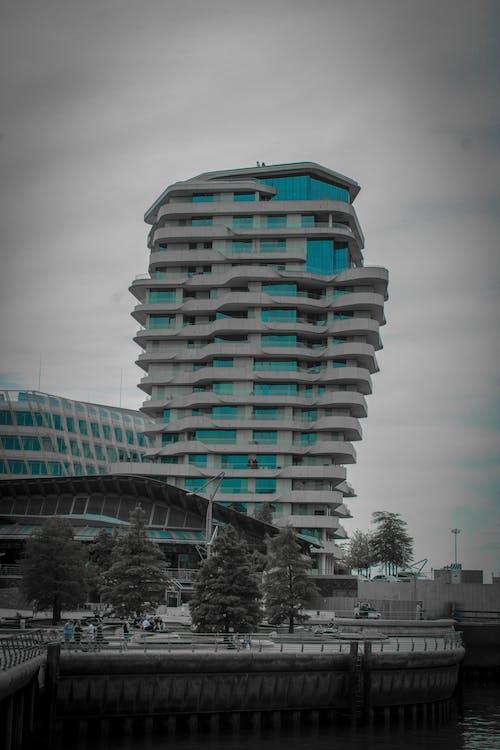 Foto stok gratis Arsitektur, Arsitektur modern, biru, gelombang