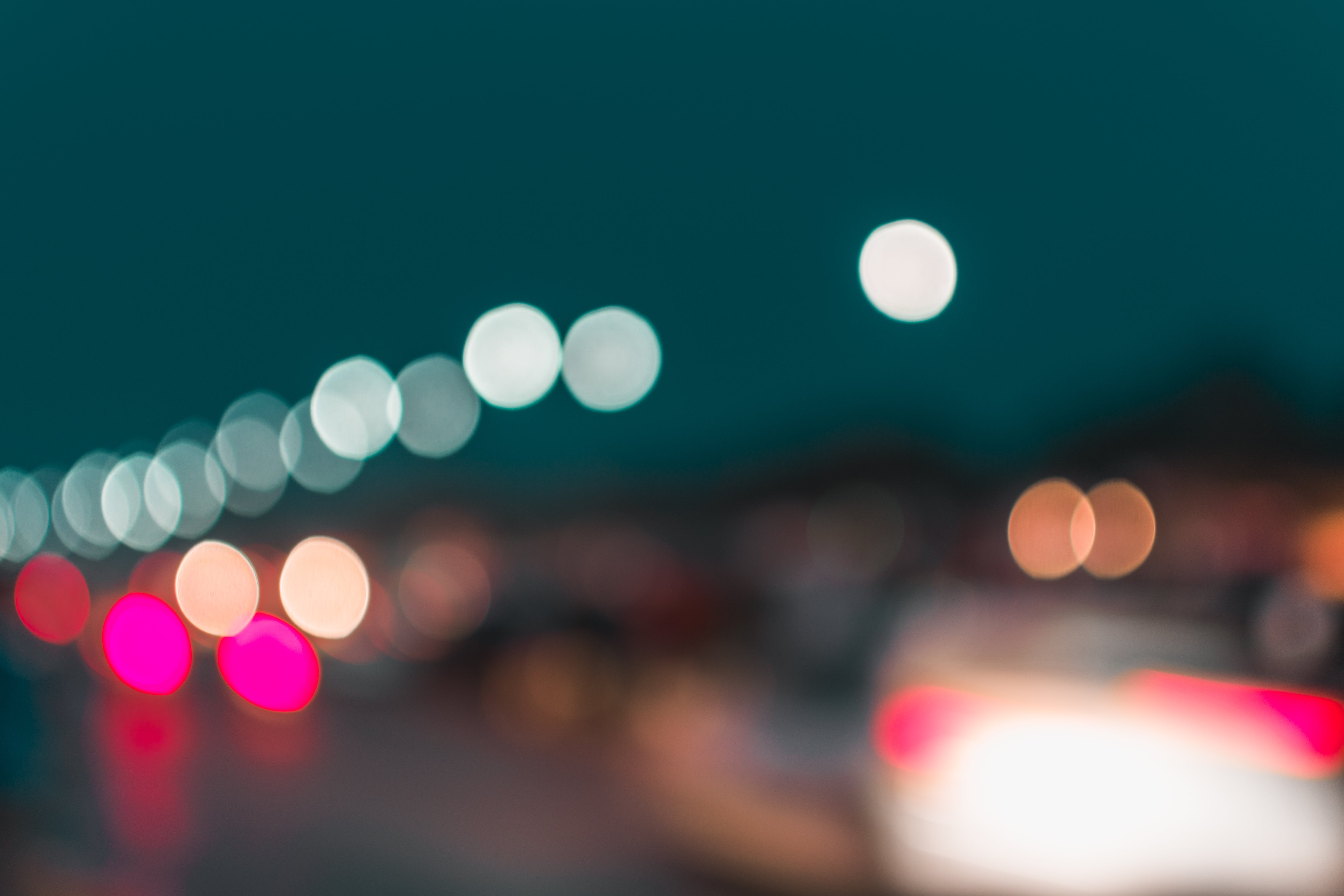 Bokeh Photography of Street Lights