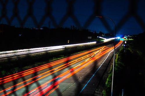 Kostenloses Stock Foto zu autobahn, beleuchtung, langzeitbelichtung, nacht