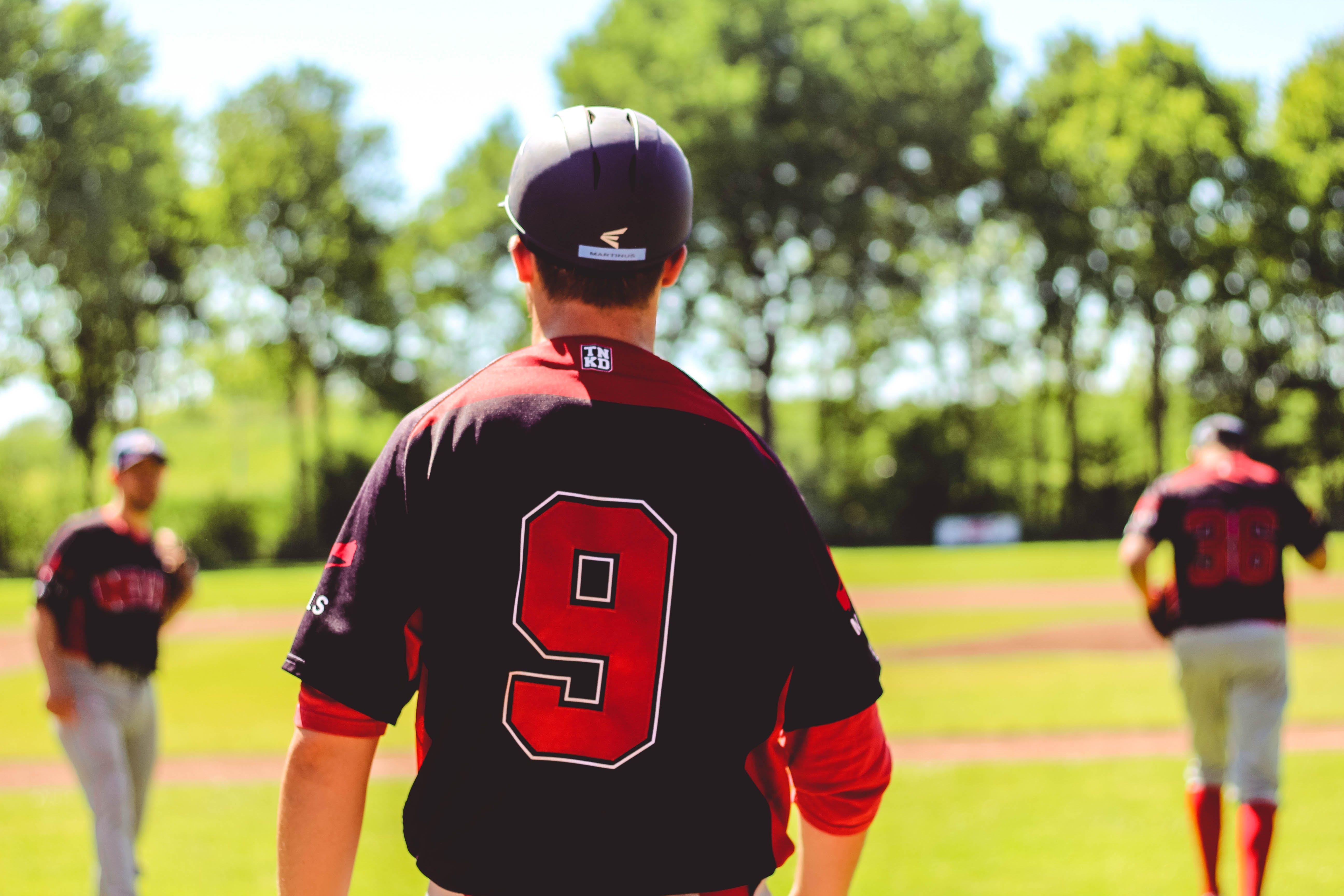 Kostenloses Stock Foto zu action, athleten, baseball-spieler, erholung