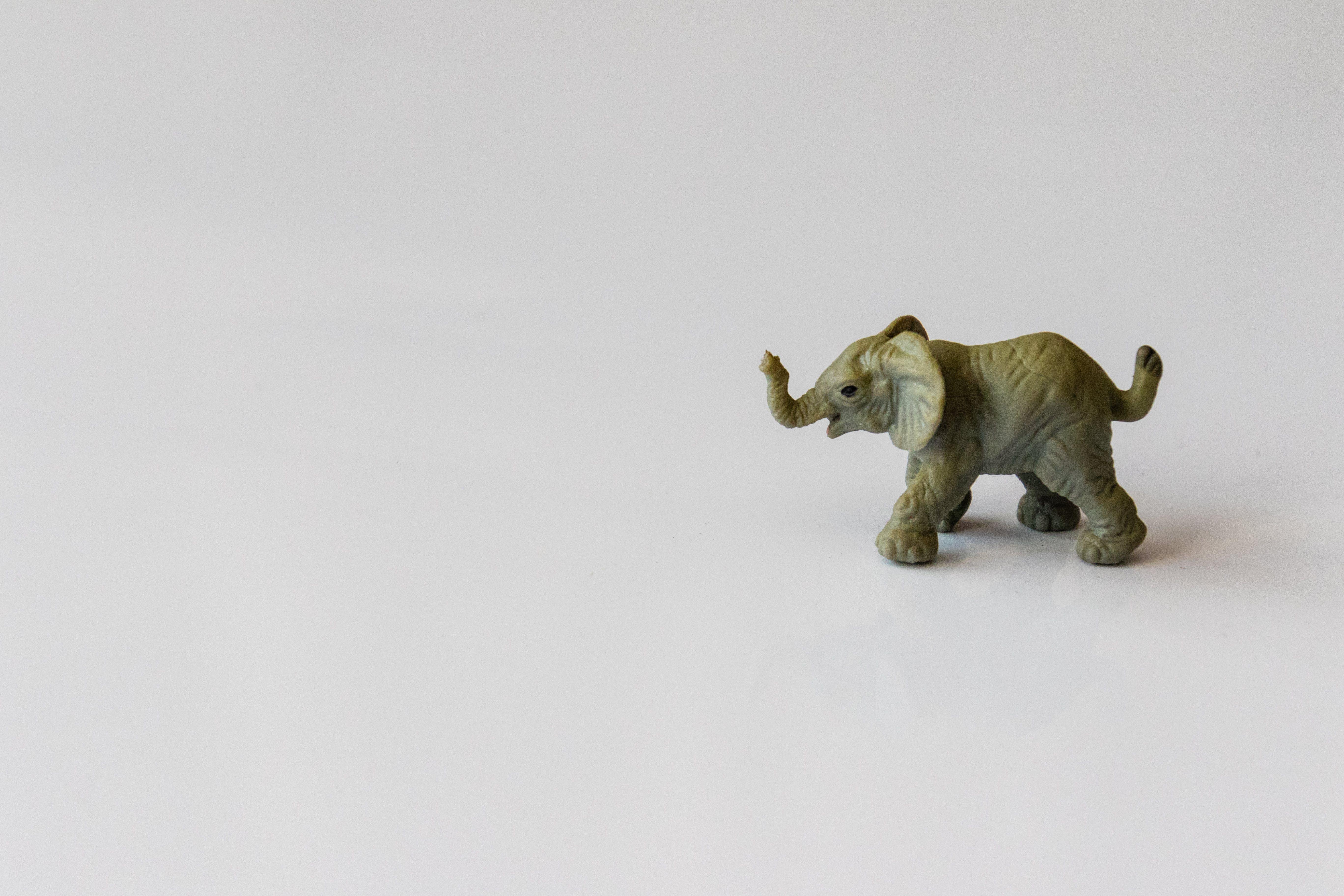Gray Elephant Figurine